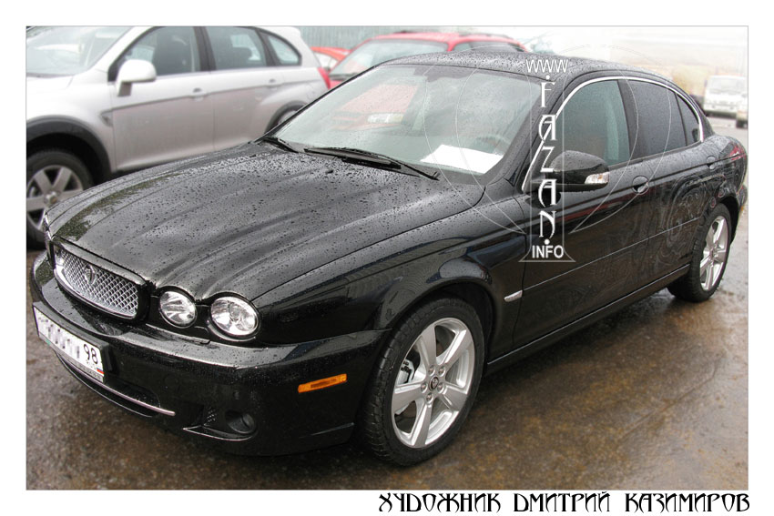 Аэрография Пейсли на автомобиле Jaguar X-Type. Фото 01.