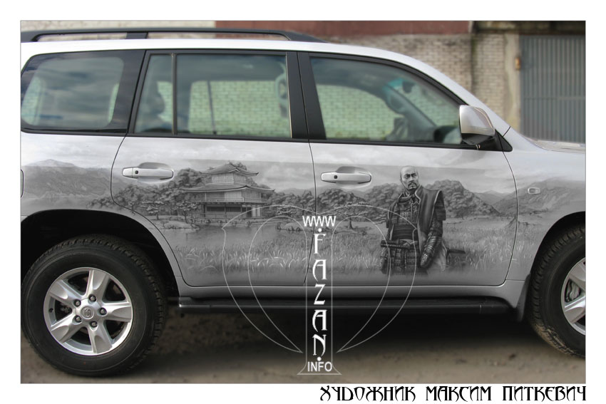 Аэрография самураев на автомобиле TOYOTA LAND CRUISER 200, фото 15.